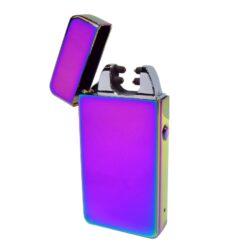 USB zapalovač Hadson Anemoi Arc, el. oblouk, duhový-USB zapalovač s elektrickým zapalováním. USB zapalovač využívá k zapálení plazmový oblouk namísto tradičního plynu, který vznikne elektrickým výbojem. Plazmový zapalovač má integrovaný MicroUSB port, kterým se USB zapalovač dobíjí. V balení je přiložen nabíjecí MicroUSB-USB kabel. Doba nabíjení USB zapalovače cca 60 minut. Výška zapalovače 7,5cm.