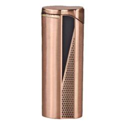 Zapalovač Hadson Groove, měděný-Plynový zapalovač Hadson Groove. Kovový turbo zapalovač má povrch v broušeném měděném provedení. Po stisknutí tlačítka se odklopí kryt a zapalovač se zapálí. Ve spodní části je umístěn plynový plnící ventil a regulace intenzity plamene. Zapalovač je dodávaný v dárkové krabičce. Výška zapalovače 7cm.