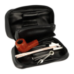Sada dýmka Angelo, startovací set-Sada pro kuřáky dýmky. Dýmková sada obsahuje bruyerovou dýmku s filtrem, pouzdro na dýmku, ťapťátko, dýmkové filtry a čističe dýmky.