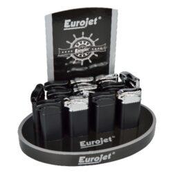 Dýmkový zapalovač Eurojet, 12ks-Dýmkový zapalovač. Zapalovač je plnitelný. Výška 7,5cm. Provedení: černé, černochromové. Cena je uvedena za 1 ks.