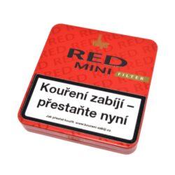 Doutníky Villiger Red Mini Vanilla Filter, 20ks-Cigarillos Villiger Red Mini Vanilla Filter s vanilkovou příchutí. Cigarillos s filtrem jsou balené po 20 doutníčkách v plechové krabičce. Délka 81mm, průměr 8,2mm. Balení: 5 ks krabiček.