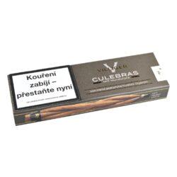 Doutníky Villiger Culebras, 6ks-Viržínka Villiger Culebras. Viržínka pletená do copánku ze 3 ks. Doutníky jsou balené po 6 ks v papírové krabičce. Délka 150mm, průměr 8,4mm. Prodej po celém balení. Balení: 5 ks krabiček.