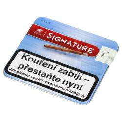 Doutníky Café Creme Blue, 10ks-Cigarillos Café Creme Blue. Cigarillos jsou balené po 10 doutníčkách v papírové krabičce. Délka 75mm, průměr 8,5mm. Balení: 10 ks krabiček.