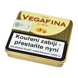 Doutníky Vegafina Filter Aroma Mini, 20ks-Doutníky Vegafina Filter Aroma Mini s filtrem, lehce kořeněné. Cigarillos jsou balené po 20 doutníčkách v plechové krabičce. Balení: 5 ks krabiček.