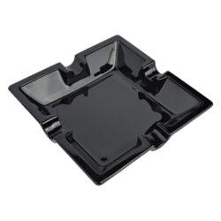 Doutníkový popelník keramický černý, 4D-Čtvercový doutníkový popelník na 4 doutníky. Keramický popelník na doutníky má lesklou glazuru. Rozměry popelníku jsou 16x16x3,7cm.