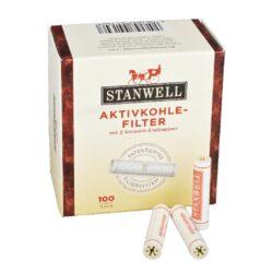 Filtr do dýmky, Stanwell, 100ks, 9mm-Celokeramické filtry do dýmky 9mm. Uhlíkový filtr do dýmky je vyroben z nechlorovaného filtrového papíru a je naplněn aktivním uhlím. Dýmkové filtry Stanwell mají velmi dobré absorpční schopnosti, výborně zachycují dehet z kondezátu a další škodliviny z tabáku. Tyto filtry do dýmky vám dopřejí suché a chladné kouření. V balení 100 ks filtrů.