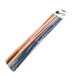 Čističe dýmek Angelo barevné, 30cm, 25ks-Dýmkové čističe barevné Angelo. Čističe pro čištění dýmky jsou dlouhé 30cm. Balení obsahuje 25 kusů.